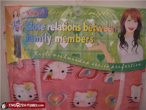 aprons,Awkward,family,girls,hello kitty,kitchen