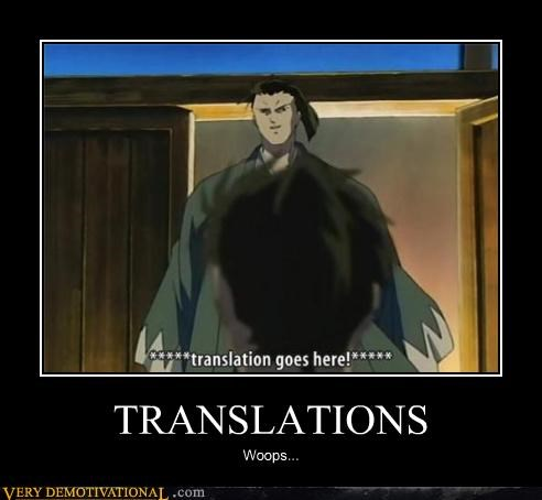 TRANSLATIONS Woops...