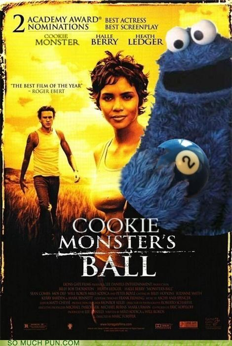 cookies Movie nom nom nom oscar puns Sesame Street - 3747548160
