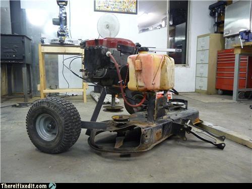 abomineering frankenstein lawn mower Mad Science Monday - 3747962112