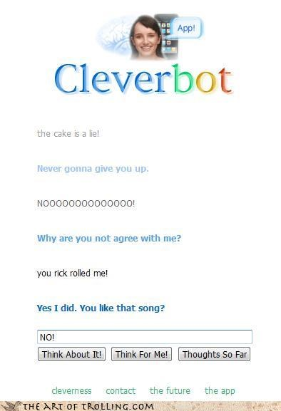 Cleverbot,rick astley,rick roll