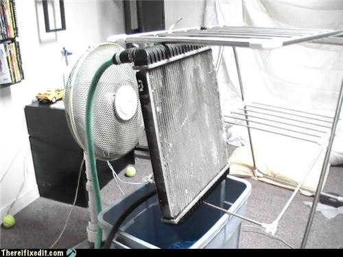 air conditioner,cool,fan,hose,Kludge,water