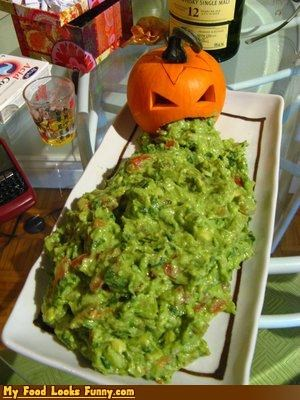 avocado fruits-veggies guacamole halloween jack o lanterns Mexican mexican food pumpkins - 3749668352