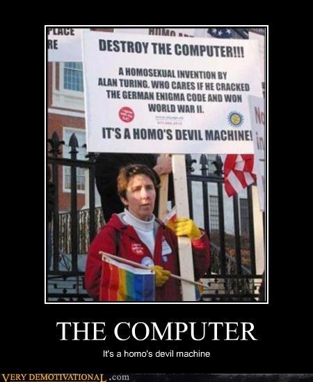 america computers crazy people devil worship homos Terrifying the devil world war II - 3750100480