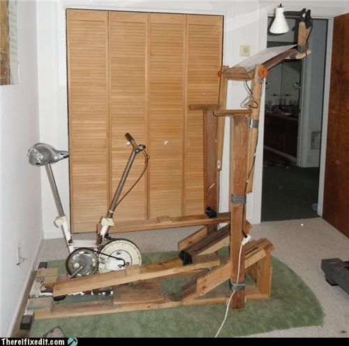 2x4,exercise equipment,Kludge,nordic track,wood