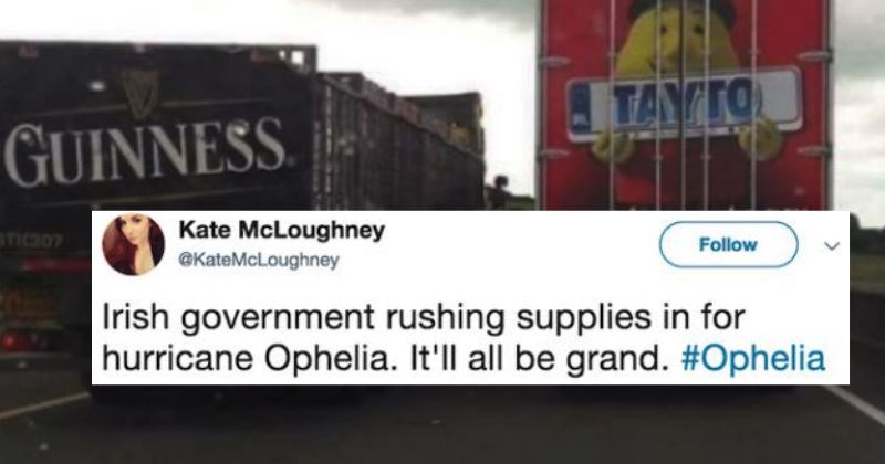 People in Ireland are roasting the crap out of Ophelia Storm and it's absolutely hilarious.