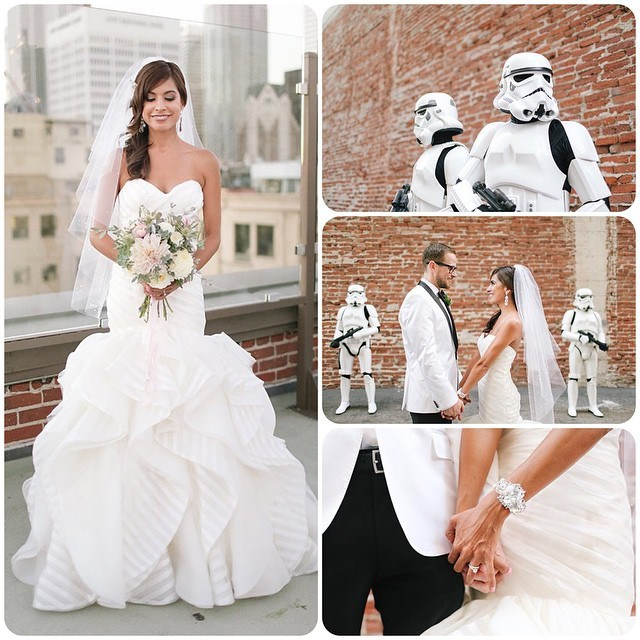 geeky,star wars,wedding
