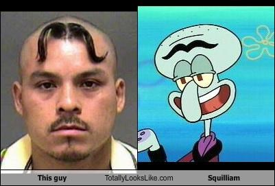 cartoons,guy,mugshot,SpongeBob SquarePants,squilliam
