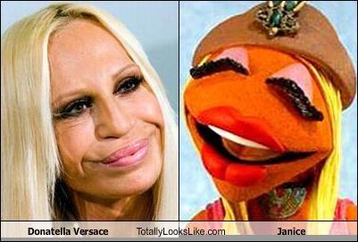 donatella versace,janice,muppet