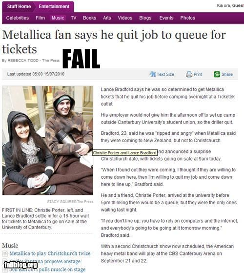 bad idea,failboat,job,lines,metallica,Music,queue,quitting,unemployed