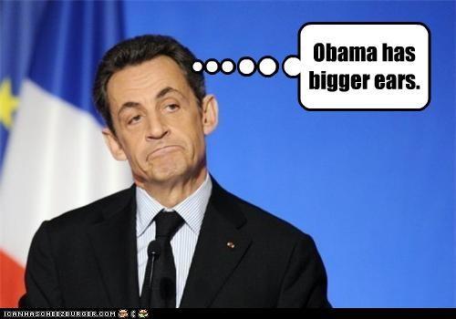 Obama has bigger ears.