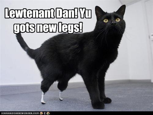 caption captioned cat Forrest Gump Hall of Fame legs lieutenant dan new prosthetics - 3754754560