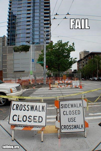 crosswalks failboat sidewalks signs streets - 3755988224
