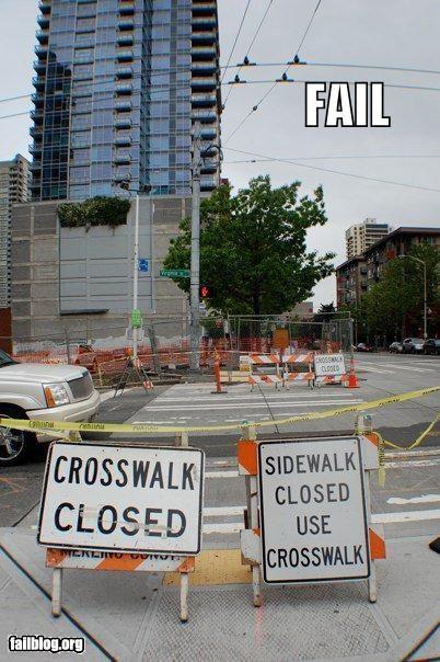 crosswalks failboat sidewalks signs streets - 3755988224