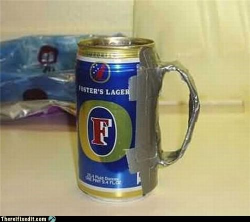 awesome beer duct tape Kludge mug sophisticated - 3756090624