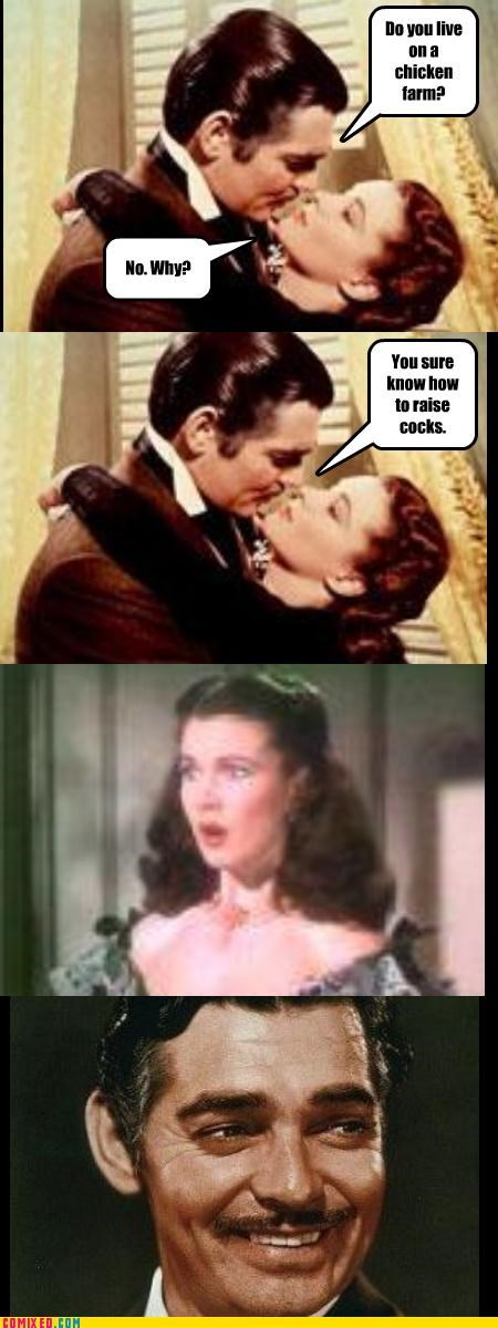 farms,From the Movies,gone with the wind,jokes,puns,rhett butler,scarlett ohara