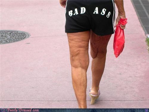 heels short shorts the elderly words - 3757086464