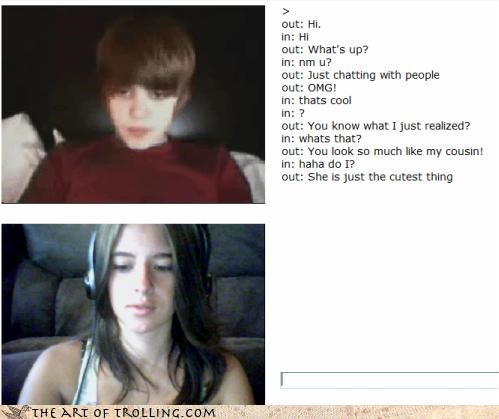 Bieber,Chat Roulette,dude looks like a lady,gender confusion