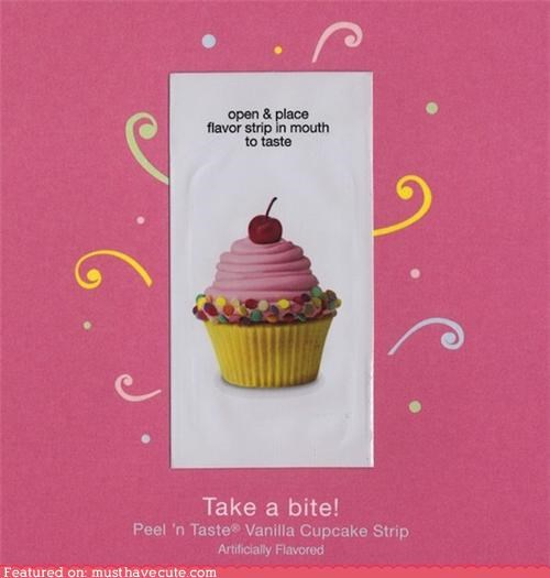 birthday cupcake cute-kawaii-stuff flavor greeting cards lick stationary taste - 3757995008