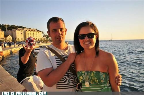couple,Croatia,mask,photobomb,scenic