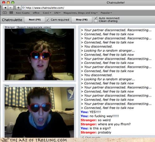 Chat Roulette lolita sunglasses twins