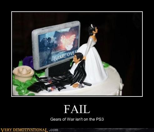 cake,FAIL,Gears of War,hilarious,idiots,marriage,ps3