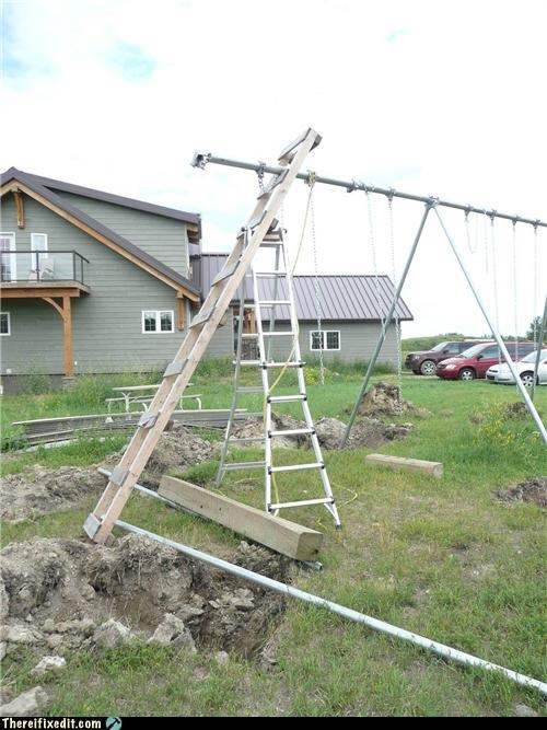 dangerous,for kids,ladders,swing