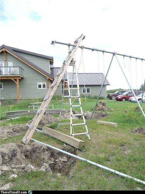 dangerous for kids ladders swing - 3762453760