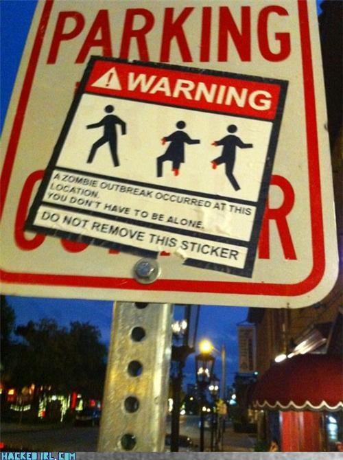 warning zombie - 3763632384