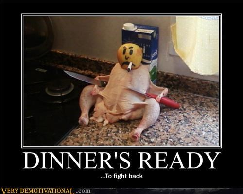knives,chicken,dinner,funny