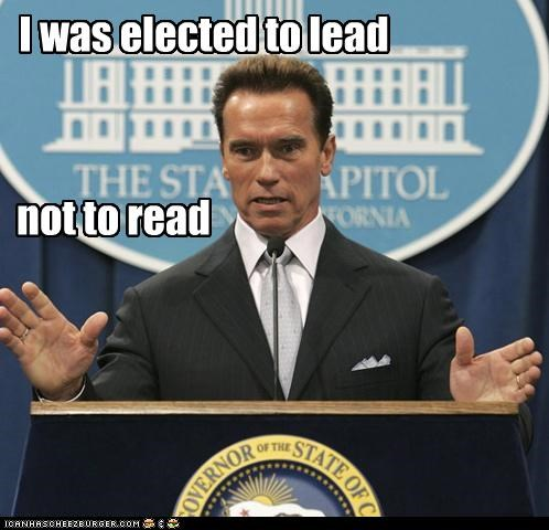 I was elected to lead not to read