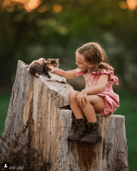 beautiful photos of girl with animals