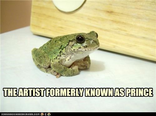 artist,caption,captioned,formerly,frog,frog prince,known,prince,pun