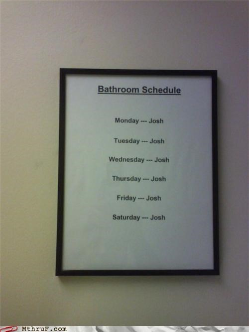 awesome co-workers not basic instructions bathroom bathroom politics depressing hilarious janitor paper signs please-dont-poop-all-over-the-bathroom prank pwned Sad schedule screw you signage - 3768386560