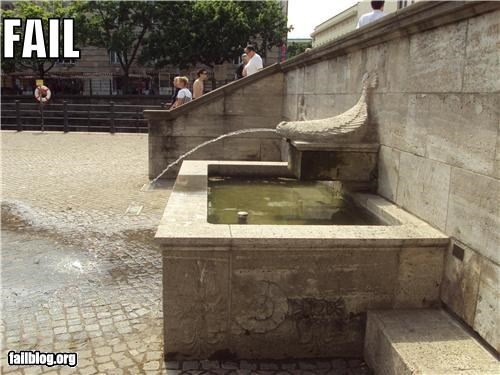 failboat fish fountains g rated poor planning squirting water - 3768776704