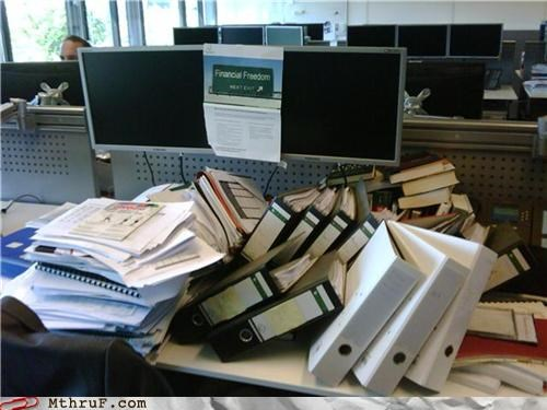 awesome co-workers not binders cubicle prank depressing desk dick move dickhead co-workers dickheads dickish disaster dump heap lazy mess paperwork passive aggressive pile prank rage Sad sass screw you sculpture slovenly spoor untidy welcome back wiseass - 3770641920