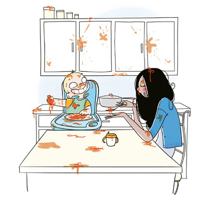 comics about everyday struggles of a mom