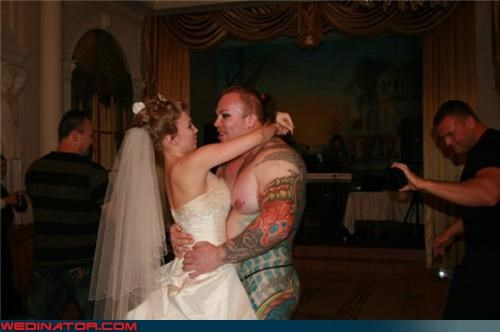 Crazy Brides crazy groom eww fashion is my passion first dance funny wedding photos romance tattoo tattooed groom were-in-love wtf
