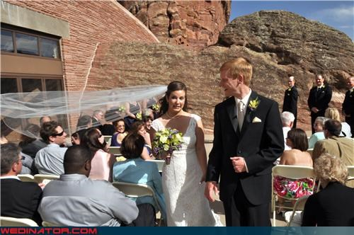 Crazy Brides fashion faux pas fashion is my passion funny bride picture funny wedding photos miscellaneous-oops technical difficulties veil wedding ceremony - 3772137472