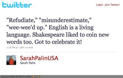 funny politics Sarah Palin twitter - 3775502848