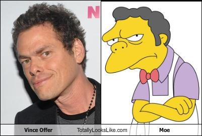 moe,the simpsons,Vince Offer