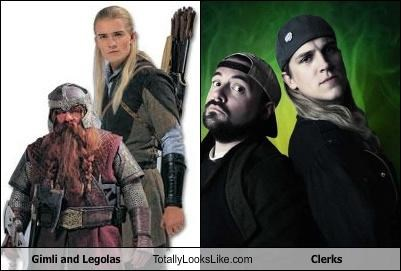 actors friends gimli gimli and legoas jason mewes jay and silent bob john rhys-davies kevin smith legolas Lord of the Rings orlando bloom
