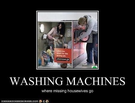 WASHING MACHINES where missing housewives go