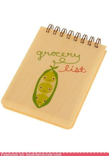cute note pad grocery list pad stationary - 3776341504