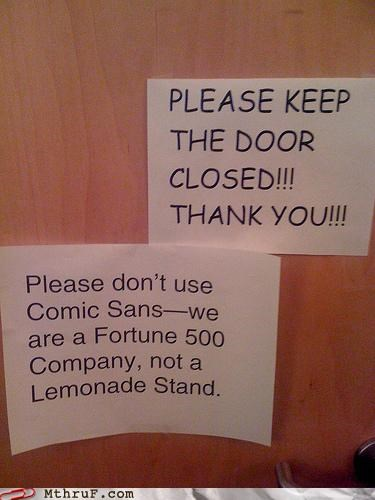 comic sans,door,fortune 500,lemonade,lemons,note