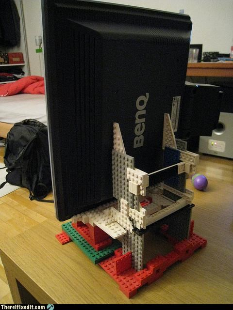 awesome,computer,Kludge,lego,Professional At Work,stands