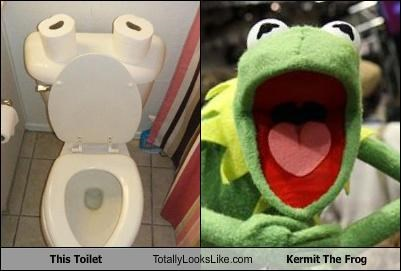 kermit the frog toilet - 3778425600