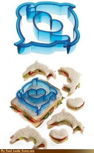 burgers and sandwiches cutter dolphins hearts mini-sandwiches sandwich shapes slicer - 3779321856