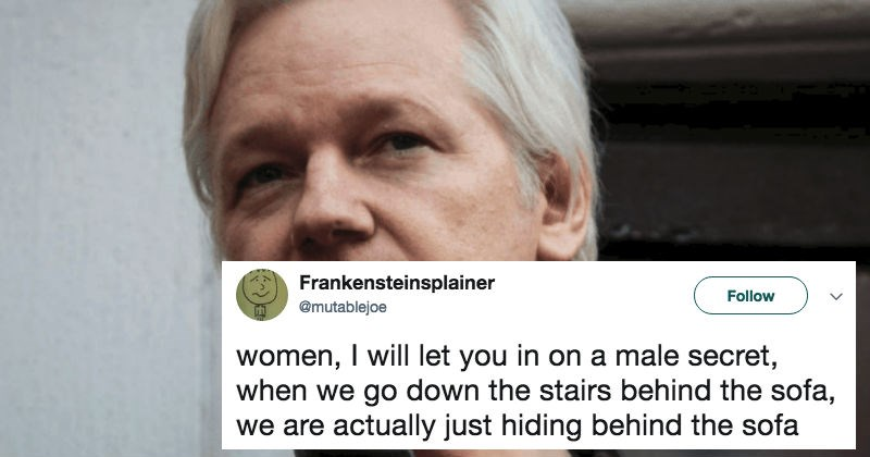 Julian Assange shares a secret for males on Twitter and ignites the rage of feminists everywhere, for sexism.
