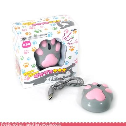 cat paw mouse computer mouse kawaii mouse - 3779779328